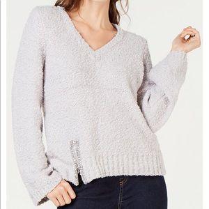 Embellished Popcorn Sweater